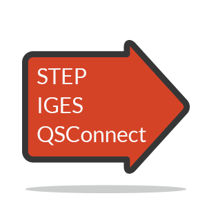 Export to STEP IGES QSConnect